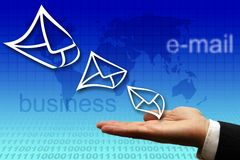 Electronic mail business Stock Photo