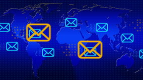 Electronic mail stock video
