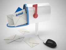 Electronic mailbox. 3d high quality render Stock Image