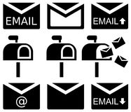 Electronic mails Royalty Free Stock Photos