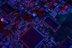 Electronic mainboard details Royalty Free Stock Photo