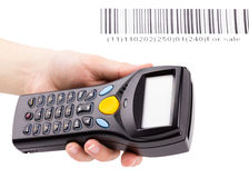 Electronic manual scanner of bar codes Royalty Free Stock Photos