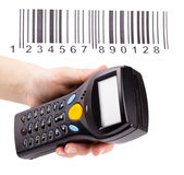 Electronic manual scanner of bar codes Stock Image
