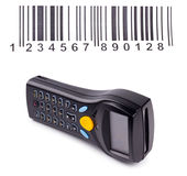 Electronic manual scanner of bar codes Stock Images
