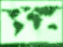 Electronic map Royalty Free Stock Photos