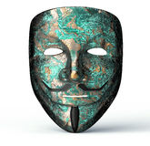 Electronic mask of a computer hacker Royalty Free Stock Image