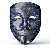 Electronic Mask Of A Computer Hacker Stock Photos