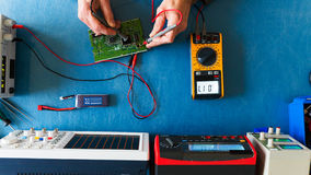 Electronic measuring instruments Stock Image