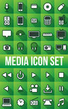 Electronic Media Flat Icons Royalty Free Stock Images