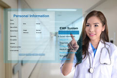 Electronic medical record. royalty free stock photo