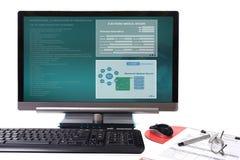 Electronic medical record. stock photos