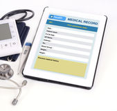 Electronic medical record. stock photography
