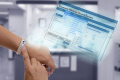 Electronic medical record technology. Royalty Free Stock Images