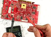 Electronic meter Stock Image