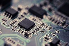 Electronic micro circuit Stock Images