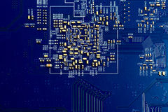 Electronic microchip circuit board stock images