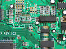 Electronic microcircuit. Stock Images