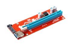 Electronic microcircuit close-up stock photos