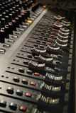 DJ  Mixer panel. Electronic mixer used to create music from a dj Stock Images