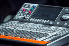 Electronic mixing desk Stock Images
