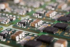 Electronic Module. Close up of a power module with limited depth of field Stock Photo