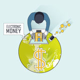 Electronic money business concept Stock Image