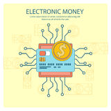 Electronic money concept Stock Image
