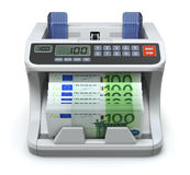 Electronic money counter. With 100 Euros banknotes - 3D illustration vector illustration