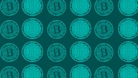Electronic money green video background clip