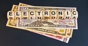 Electronic money Royalty Free Stock Photos