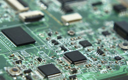 electronic motherboard parts  Royalty Free Stock Photo