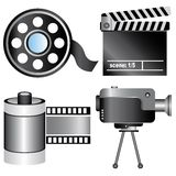 Electronic and movie icons Royalty Free Stock Images
