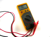 Electronic multimeter Royalty Free Stock Image