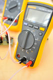 Electronic multimeters Royalty Free Stock Images