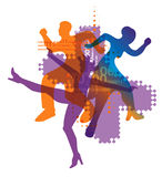 Electronic music dancers background Royalty Free Stock Image