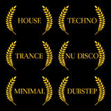 Electronic Music Genres 2 Stock Image