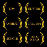 Electronic Music Genres 6 Stock Photo