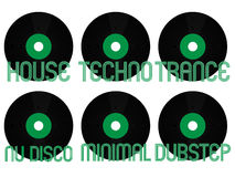 Electronic Music Genres Vinyl 4 Stock Photos