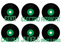 Electronic Music Genres Vinyl 8 Royalty Free Stock Photos