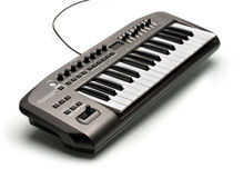 Electronic Music Keyboard Stock Photography