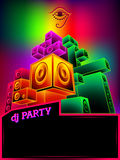 Electronic music party poster Royalty Free Stock Photos
