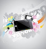 Electronic music vector Royalty Free Stock Photo
