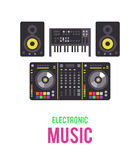 Electronic musical devices Royalty Free Stock Photography
