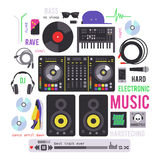 Electronic musical devices Royalty Free Stock Photos