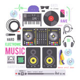 Electronic musical devices Stock Photo
