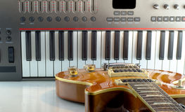 Electronic musical keyboard, close-up Royalty Free Stock Image