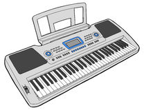 Electronic musical keyboard - synth Stock Image