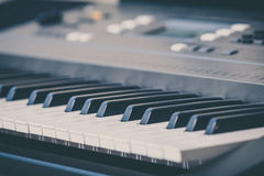 Electronic musical keyboard synthesizer Royalty Free Stock Photo