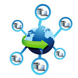 Electronic Network Diagram Stock Photo