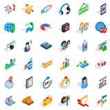 Electronic network icons set, isometric style. Electronic network icons set. Isometric set of 36 electronic network vector icons for web isolated on white Stock Photo